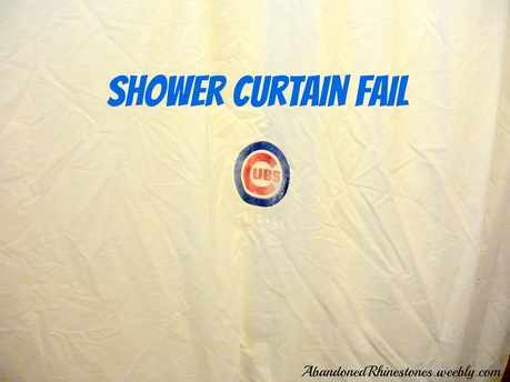 Chicago Cubs Diy Shower Curtain Abandoned Rhinestones